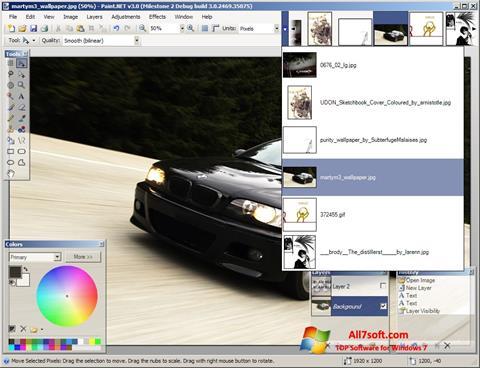 لقطة شاشة Paint.NET لنظام التشغيل Windows 7