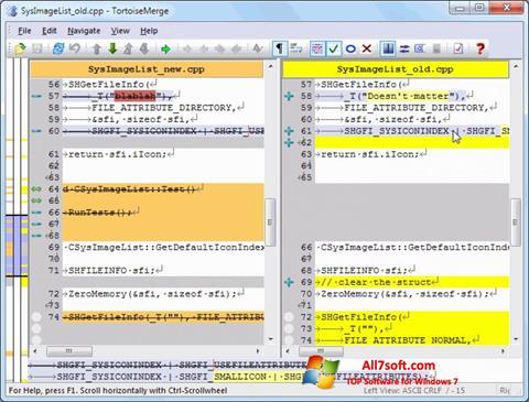 لقطة شاشة TortoiseSVN لنظام التشغيل Windows 7