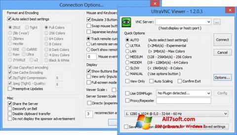 لقطة شاشة UltraVNC لنظام التشغيل Windows 7