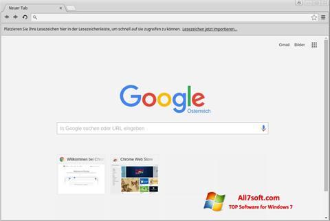 لقطة شاشة Google Chrome لنظام التشغيل Windows 7