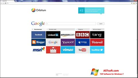لقطة شاشة Orbitum لنظام التشغيل Windows 7