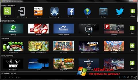 لقطة شاشة BlueStacks لنظام التشغيل Windows 7