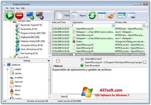 لقطة شاشة Keylogger لنظام التشغيل Windows 7