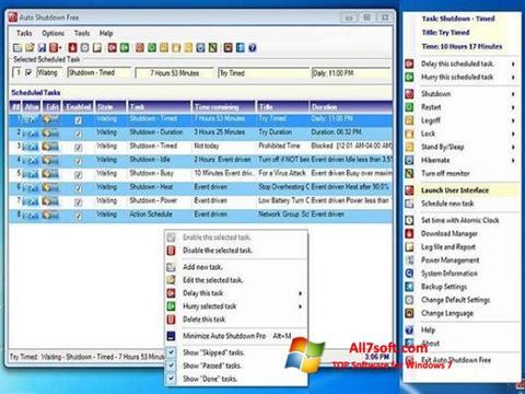 لقطة شاشة Auto ShutDown لنظام التشغيل Windows 7