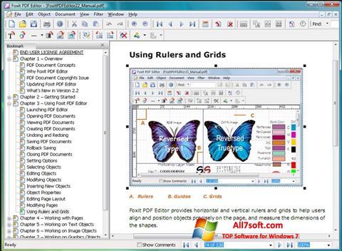 لقطة شاشة Foxit PDF Editor لنظام التشغيل Windows 7