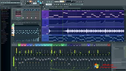 لقطة شاشة FL Studio لنظام التشغيل Windows 7