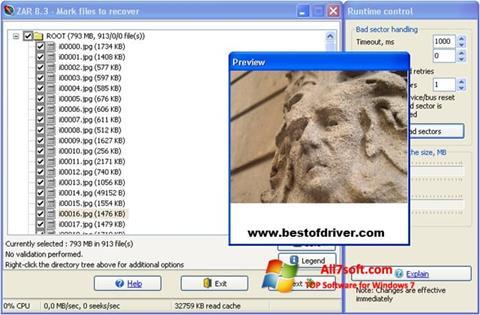 لقطة شاشة Zero Assumption Recovery لنظام التشغيل Windows 7