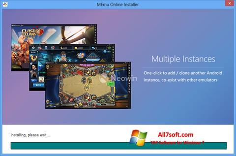 لقطة شاشة MEmu لنظام التشغيل Windows 7