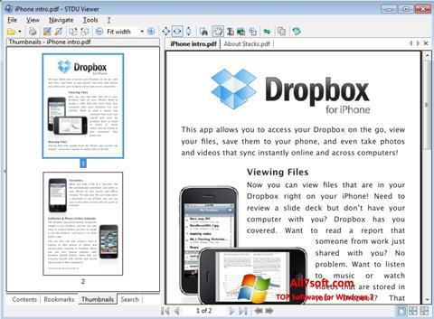 لقطة شاشة STDU Viewer لنظام التشغيل Windows 7