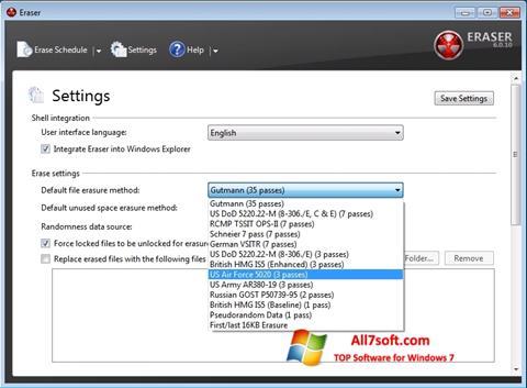 لقطة شاشة Fast Folder Eraser لنظام التشغيل Windows 7