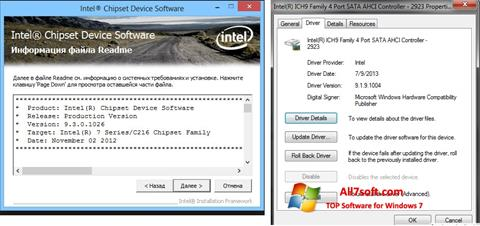 لقطة شاشة Intel Chipset لنظام التشغيل Windows 7