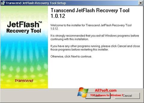 لقطة شاشة JetFlash Recovery Tool لنظام التشغيل Windows 7