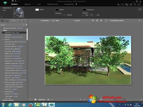 لقطة شاشة Artlantis Studio لنظام التشغيل Windows 7