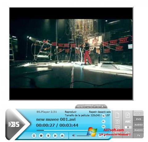 لقطة شاشة BSPlayer لنظام التشغيل Windows 7