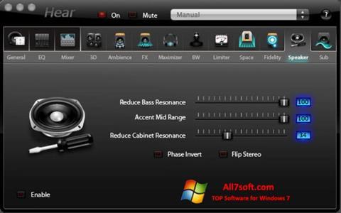 لقطة شاشة Hear لنظام التشغيل Windows 7