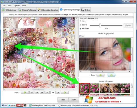 لقطة شاشة Photo Collage لنظام التشغيل Windows 7