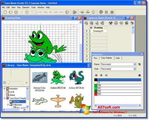 لقطة شاشة Toon Boom Studio لنظام التشغيل Windows 7