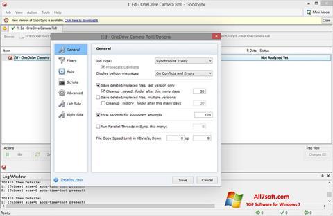 لقطة شاشة GoodSync لنظام التشغيل Windows 7