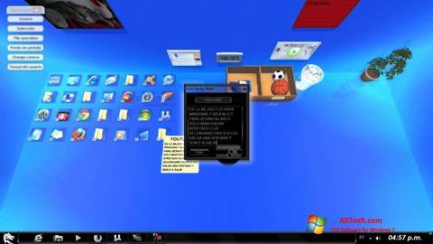لقطة شاشة Real Desktop لنظام التشغيل Windows 7