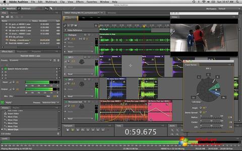 لقطة شاشة Adobe Audition لنظام التشغيل Windows 7