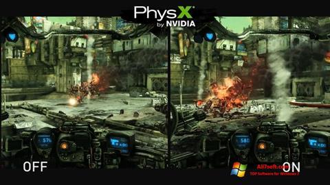 لقطة شاشة NVIDIA PhysX لنظام التشغيل Windows 7
