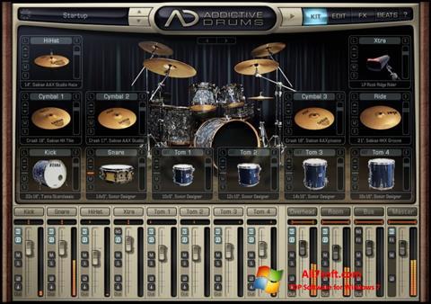 لقطة شاشة Addictive Drums لنظام التشغيل Windows 7