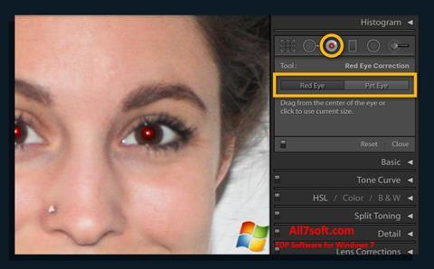 لقطة شاشة Red Eye Remover لنظام التشغيل Windows 7
