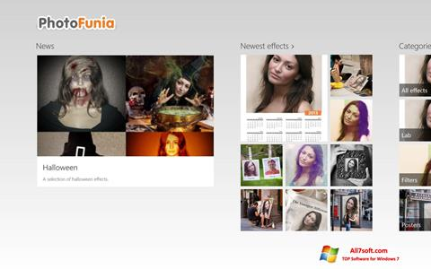 لقطة شاشة PhotoFunia لنظام التشغيل Windows 7