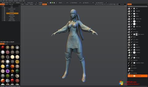 لقطة شاشة 3D-Coat لنظام التشغيل Windows 7