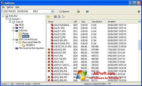 لقطة شاشة IsoBuster لنظام التشغيل Windows 7