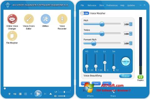 لقطة شاشة AV Voice Changer Diamond لنظام التشغيل Windows 7