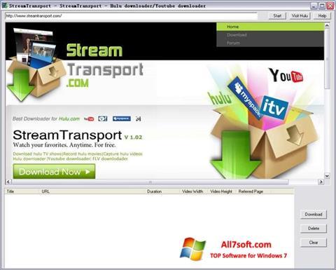 لقطة شاشة StreamTransport لنظام التشغيل Windows 7