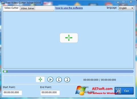 لقطة شاشة Free Video Cutter لنظام التشغيل Windows 7