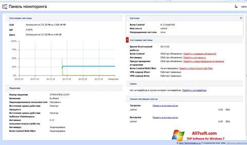 لقطة شاشة Kerio Control لنظام التشغيل Windows 7