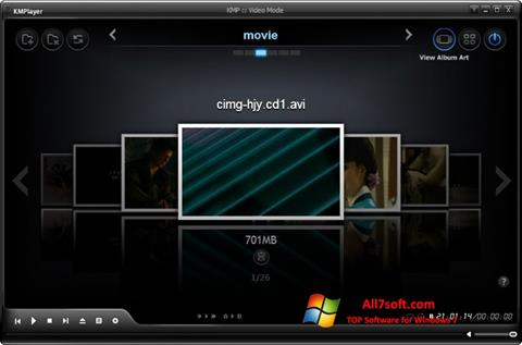 لقطة شاشة KMPlayer لنظام التشغيل Windows 7