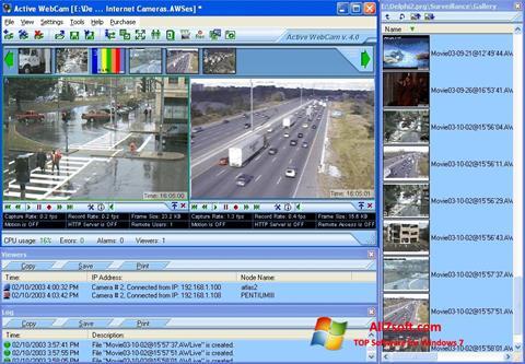 لقطة شاشة Active WebCam لنظام التشغيل Windows 7