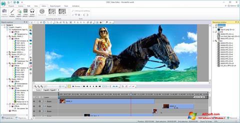 لقطة شاشة VSDC Free Video Editor لنظام التشغيل Windows 7