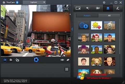 لقطة شاشة CyberLink YouCam لنظام التشغيل Windows 7